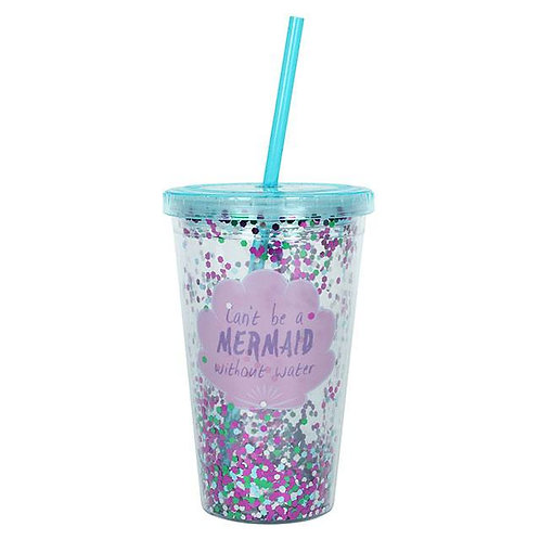 Cant be a Mermaid...Sequin Drinking Cup