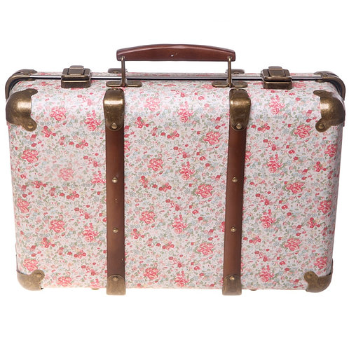 Vintage Floral Suitcase Roses
