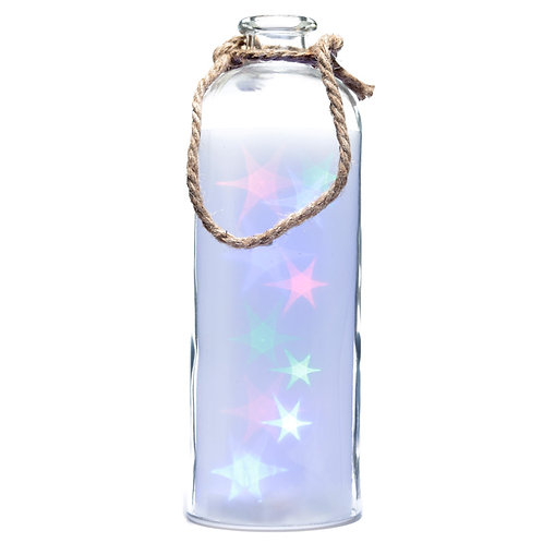 Decorative Coloured Led Glass Jar