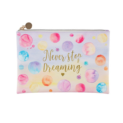 Never Stop Dreaming Paint Splash Pouch