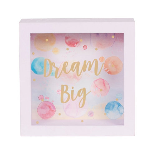 Dream Big Paint Splash Money Box