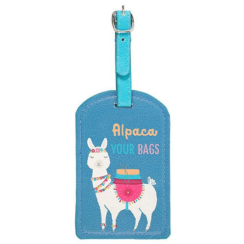 Fiesta Fun Alpaca Luggage Tag