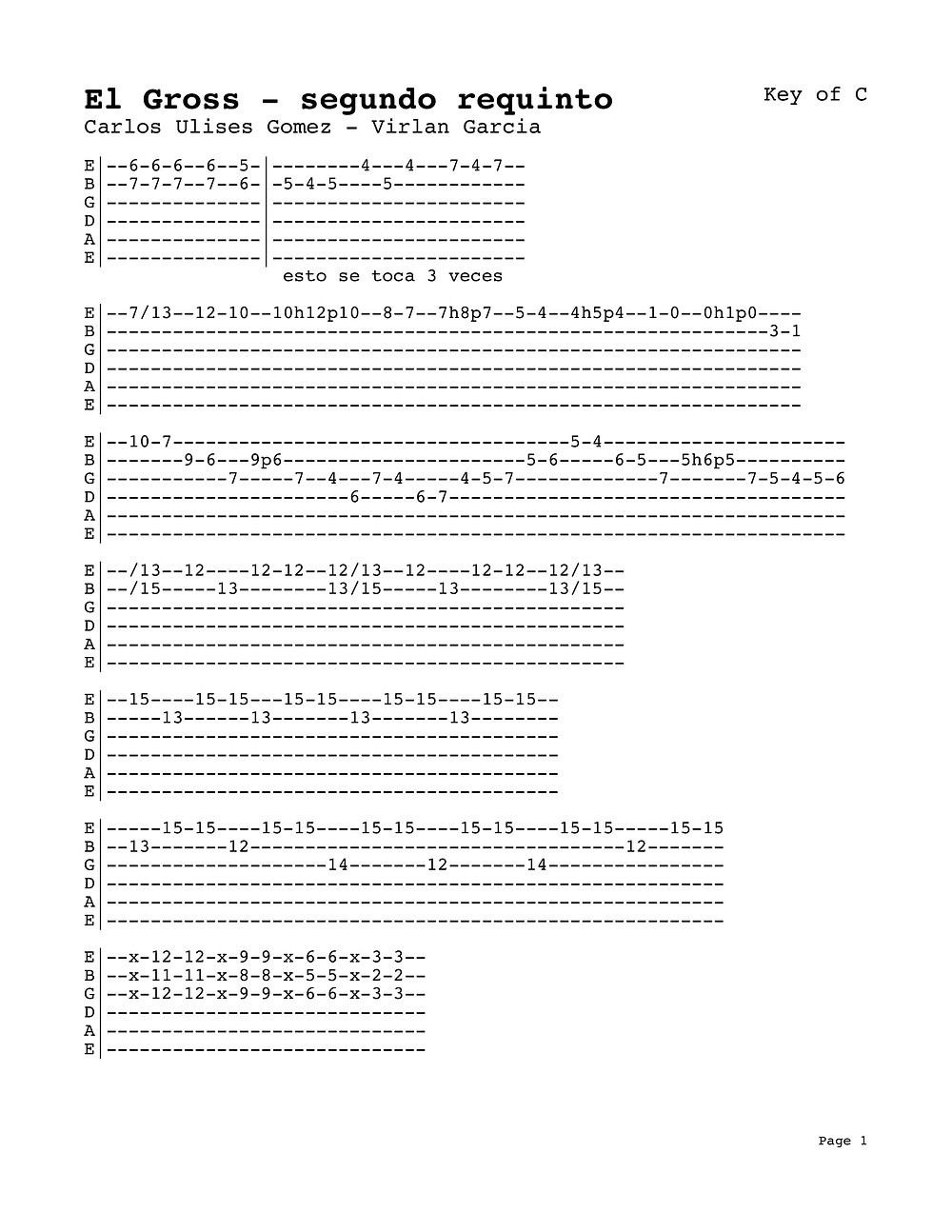 El Gross - CARLOS ULISES GOMEZ - Virlan Garcia - Tutorial - SEGUNDO REQUINTO - Acordeon - Guitarra -