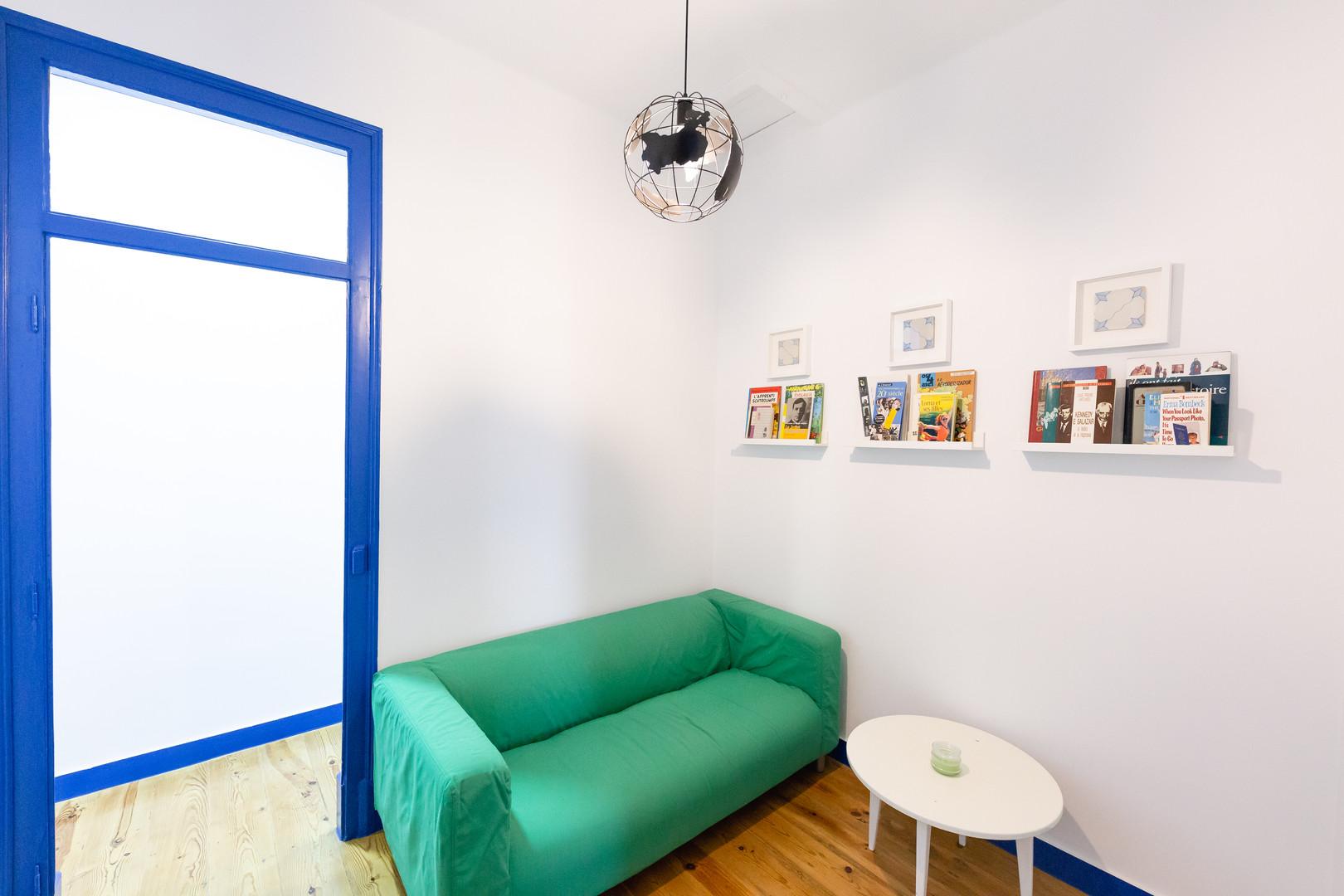 Sala comum do Help Yourself Hostels Parede