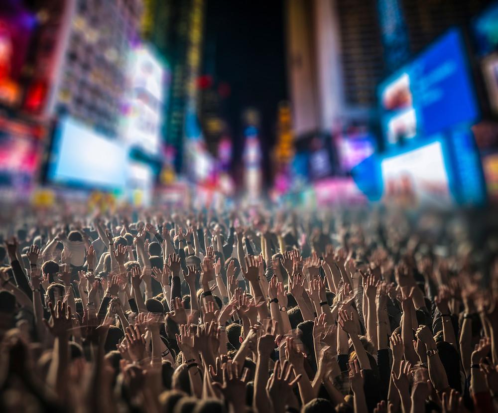 Nouvelle année sur Time Square