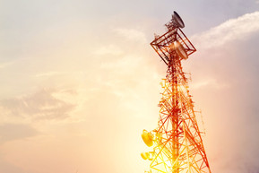 Abstract telecommunication tower Antenna