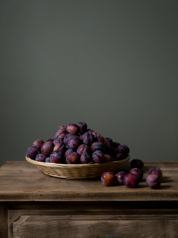 Still-life with plums