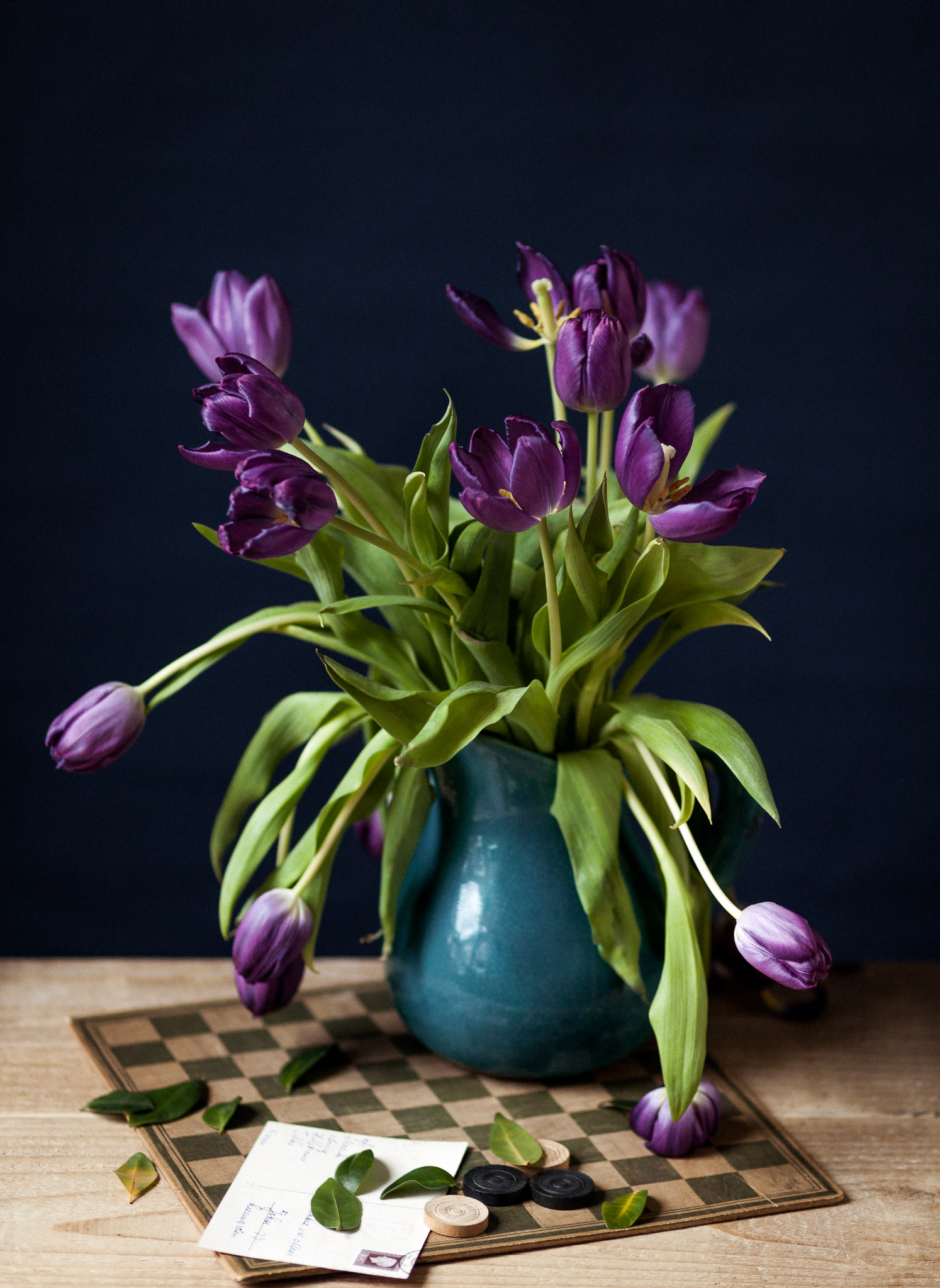 Still-life with tulips