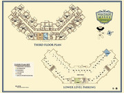 THIRD FLOOR PLAN & LOWER LEVEL PARKING