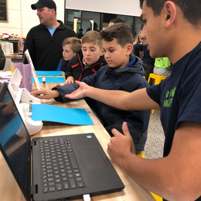 """Families """"Light Up"""" the Winter Solstice in the Delran Innovation & Fabrication Lab"""