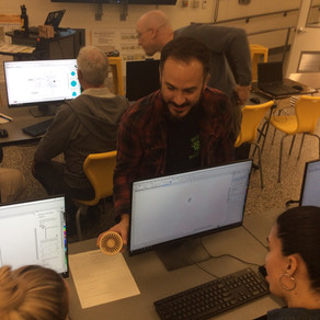 Laser Cutting: Teacher PD Series Continues in the Delran Innovation & Fabrication Lab