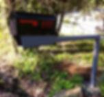Mailbox stand with newspaper box