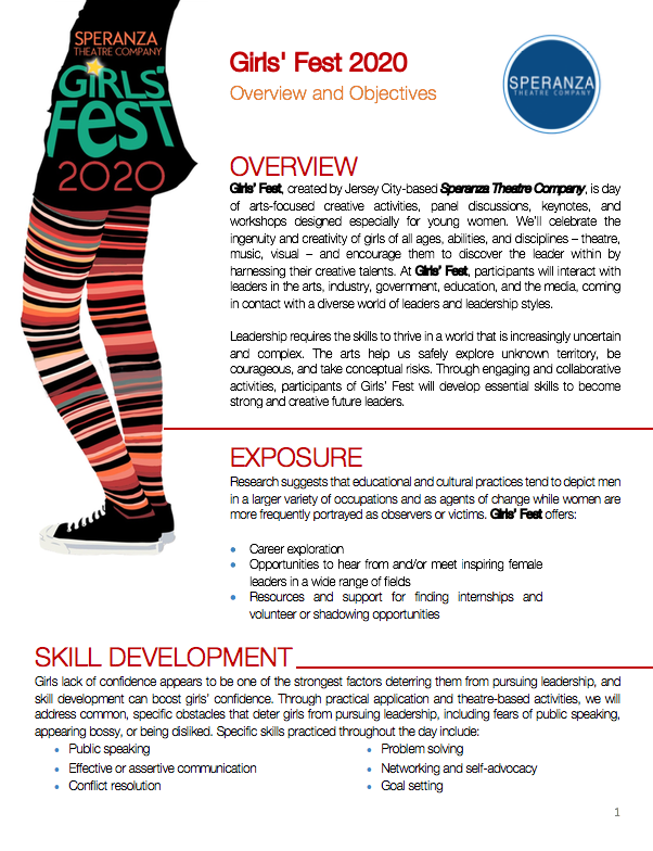 Girl's Fest Overview Page 2