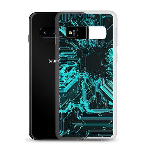 Samsung Case Organic Circuit Teal