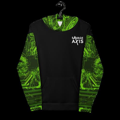 Savage Axis Hoodie Organic Circuit Board Green