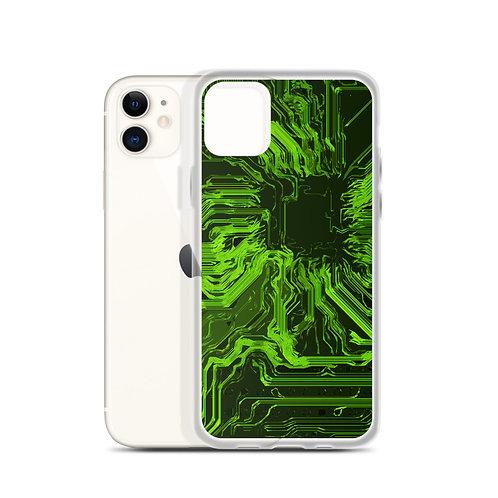 iPhone Case Organic Circuit Green