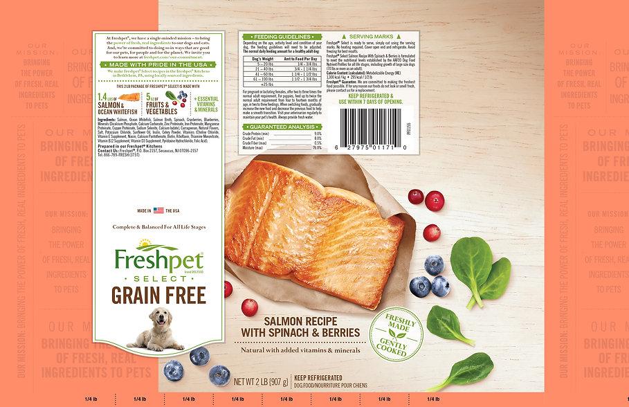 freshpet select, salmon recipe, grain free dog food