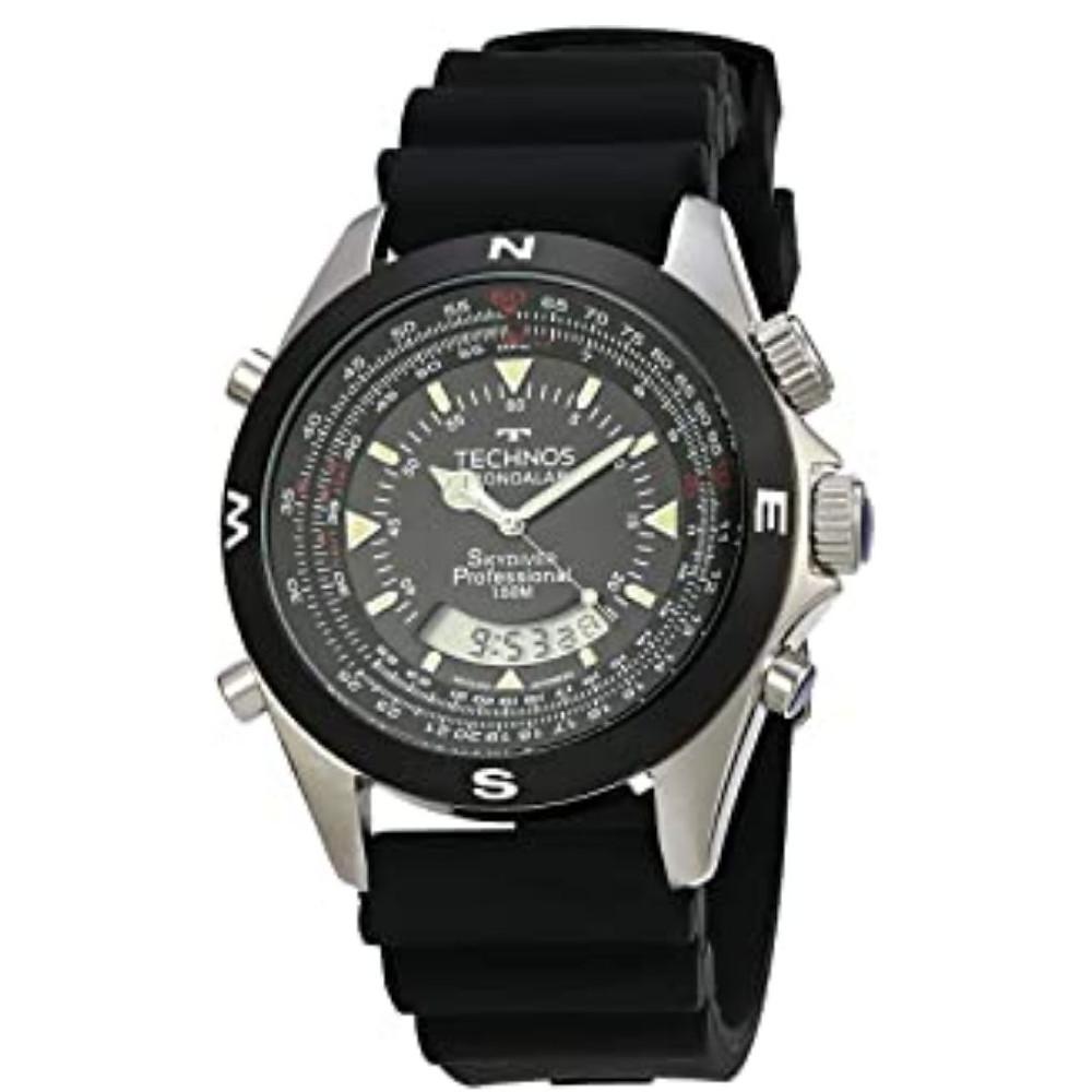 Relógio Technos, Pulseira de Plástico, Masculino Preta Praime Day 2021