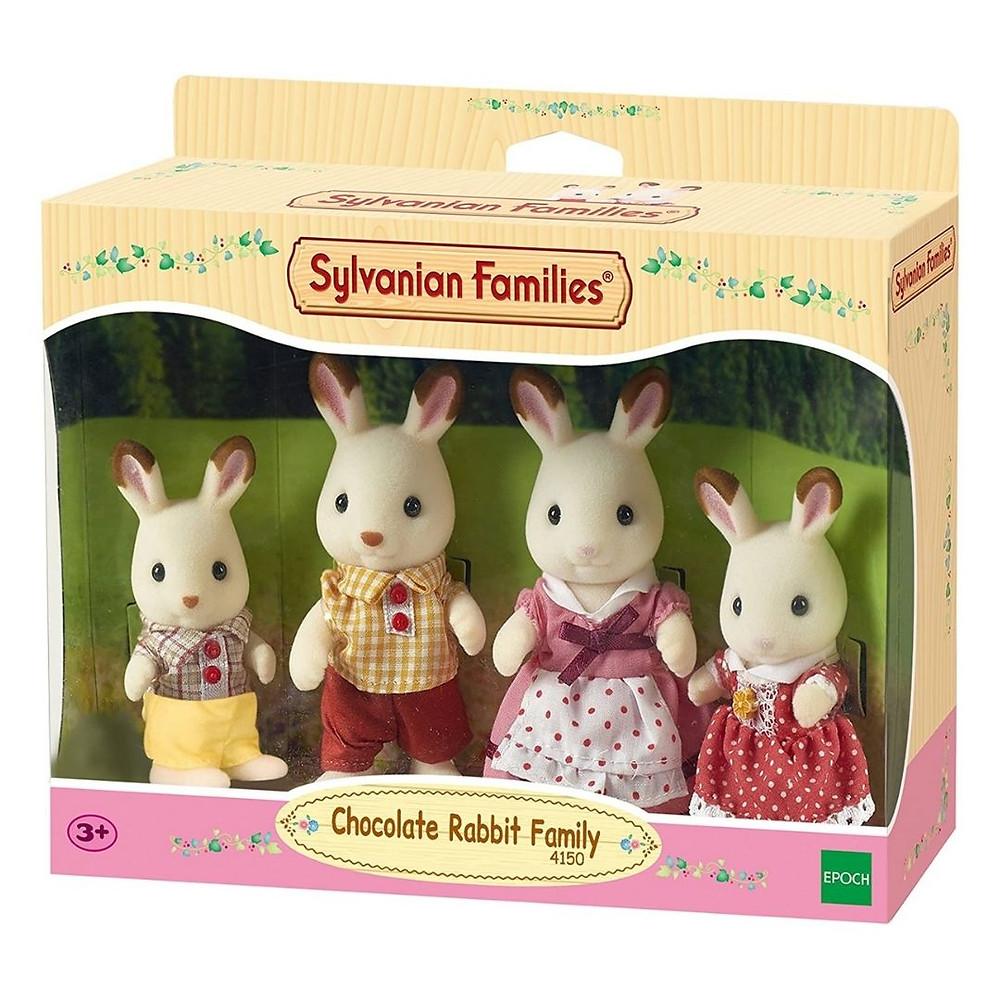 família coelhos chocolate