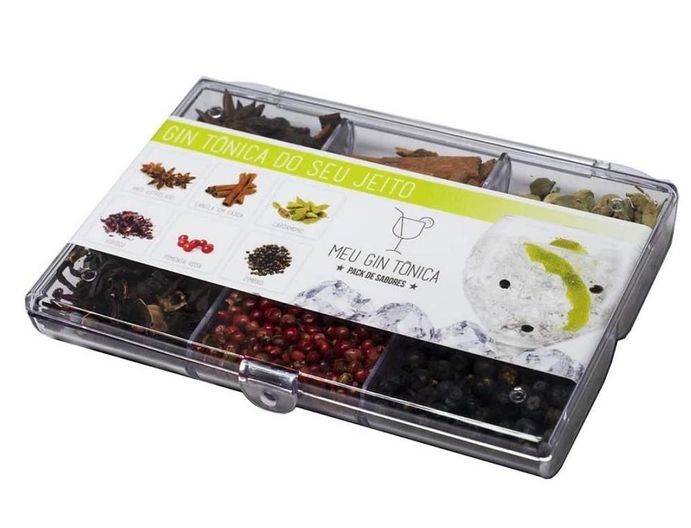 kit gin tônica com especiarias de presente até R$ 50