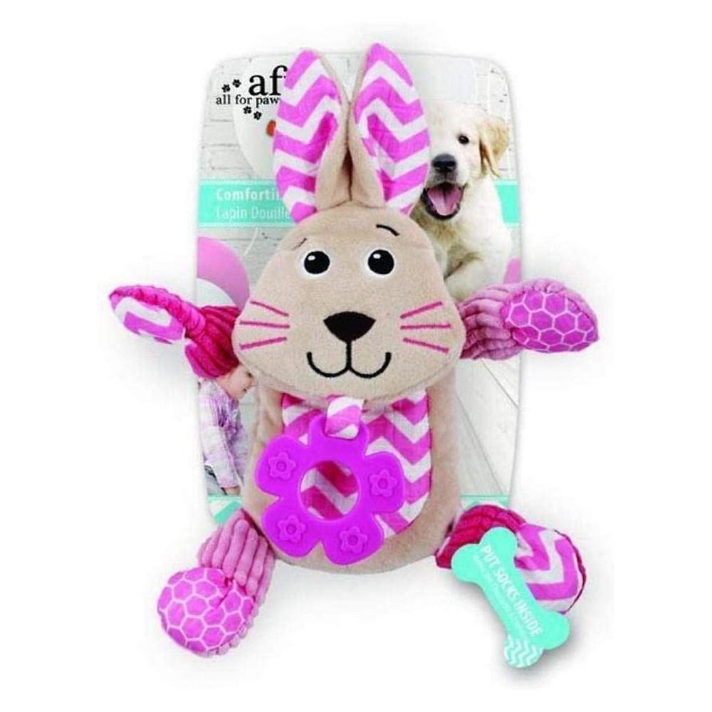 brinquedo de pelúcia de coelho para cães de presente de Páscoa