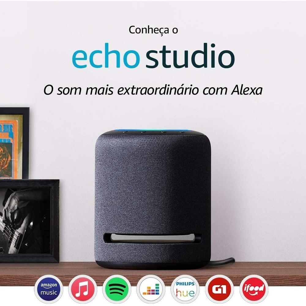 Echo Studio - Smart Speaker, áudio alta fidelidade e Alexa de presente para o Dia das Mães