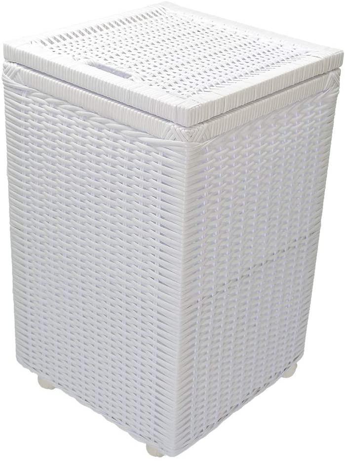 cesto de roupas fibra sintética branco Allstate