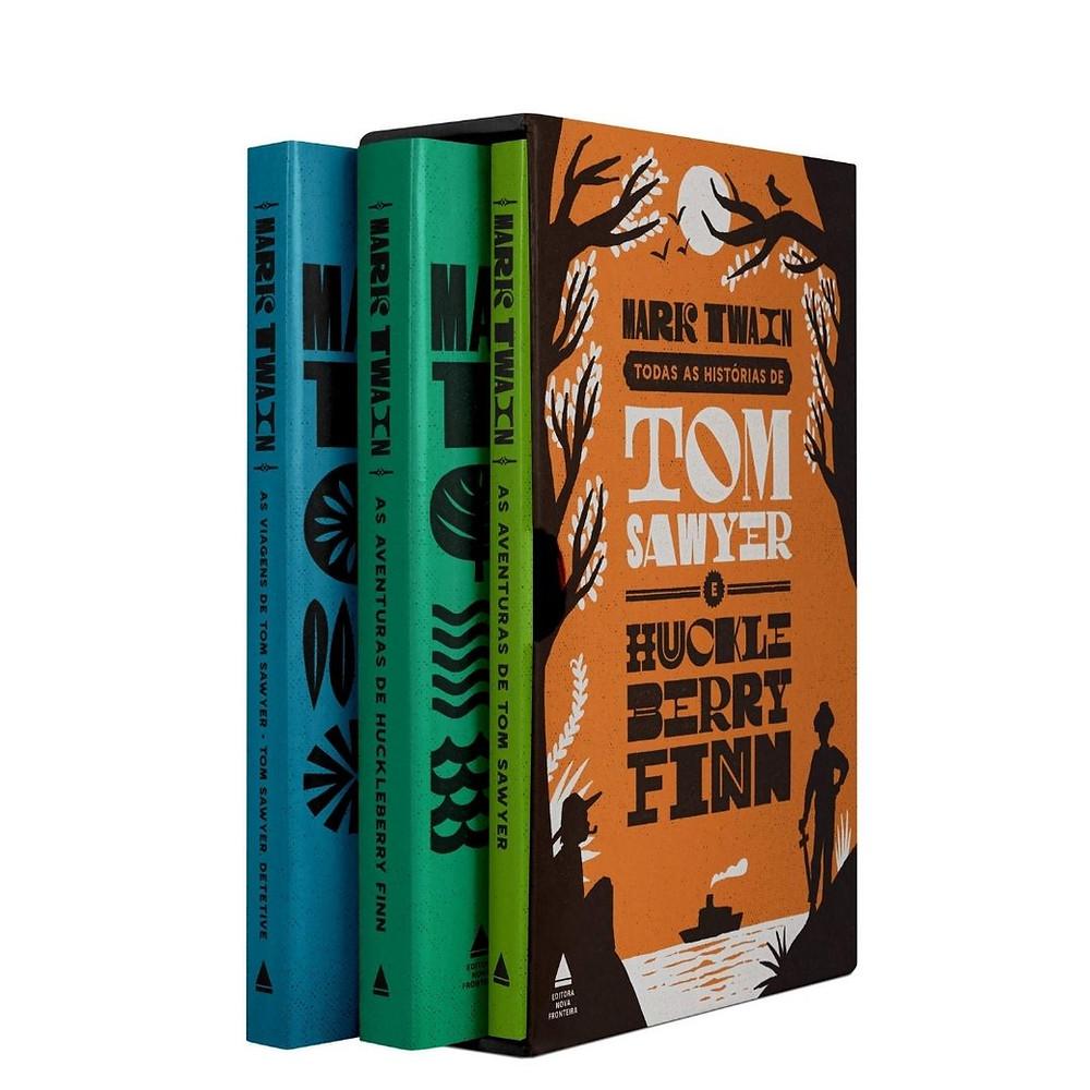 Box As Histórias de Tom Sawyer e Huckleberry Finn para presentear e colecionar