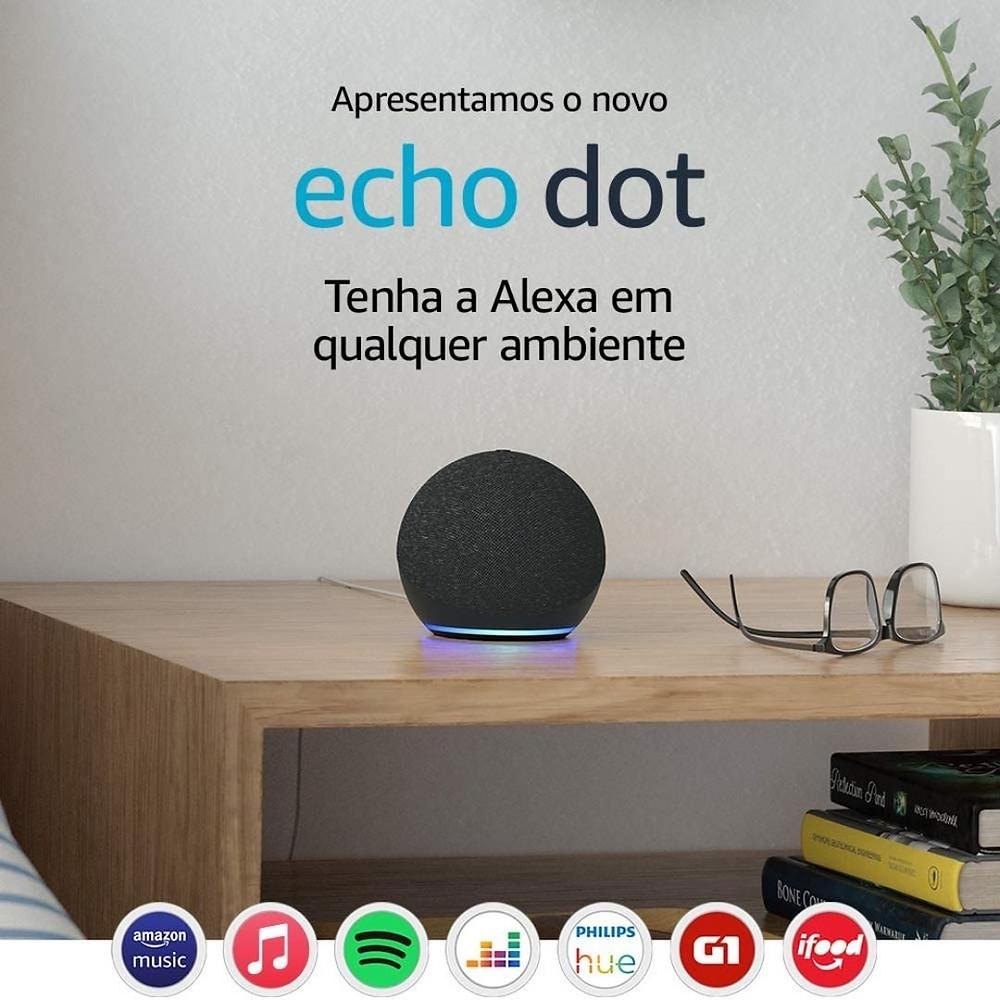 Novo Echo Dot (4ª Geração): Smart Speaker com Alexa com desconto para o Dia das Mães
