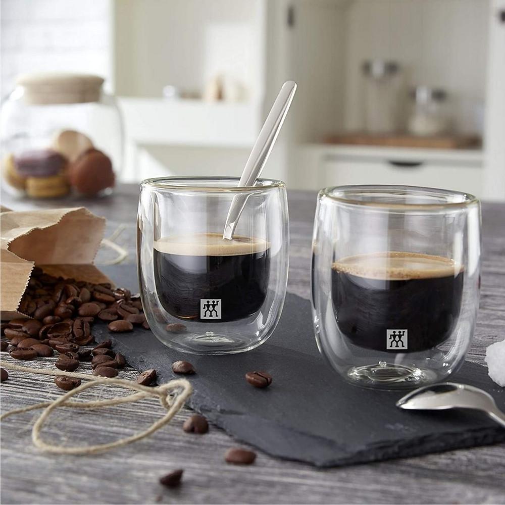 Jogo Com 2 Copos para Espresso, Vidro De Parede Dupla, Transparente, Zwilling