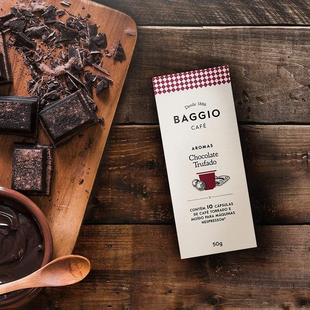 cápsulas de café com aroma de chocolate