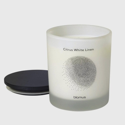 Vela Flavo Perfumada Linho Branco Cítrico Blomus