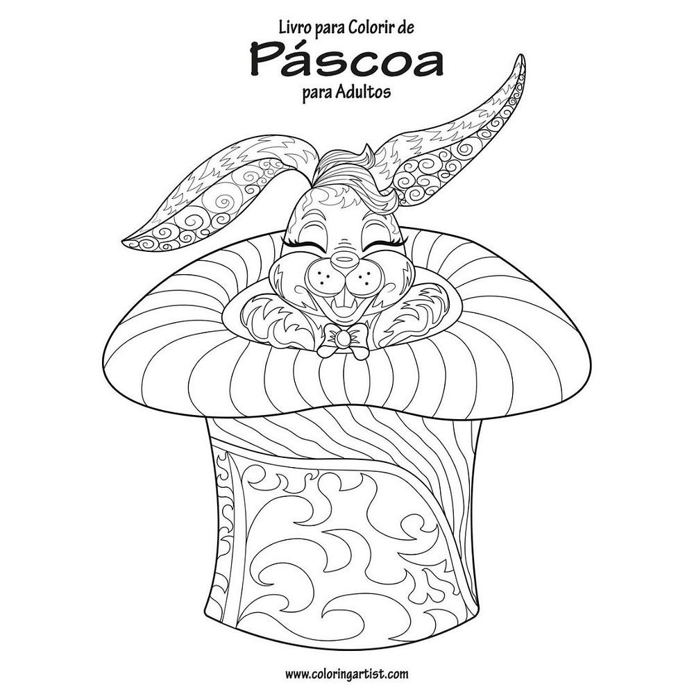 Livro para colorir de Páscoa para adultos