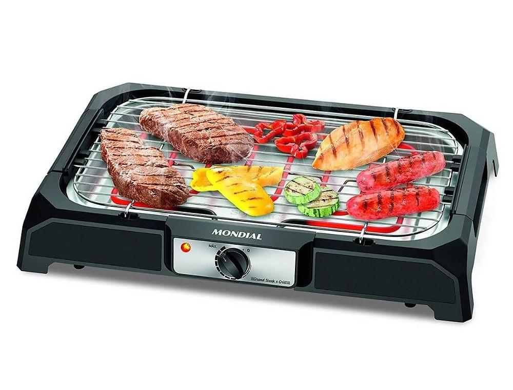Churrasqueira Elétrica Mondial, Grand Steak & Grill portátil de mesa