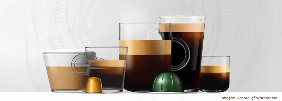 Xícaras e Cápsulas de Café Expresso Nespresso