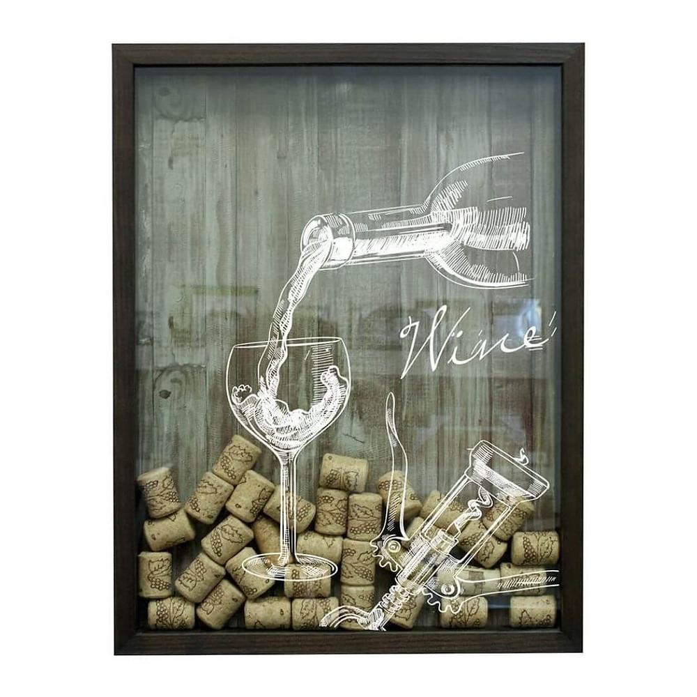 Quadro Porta Rolhas de Vinho Kapos