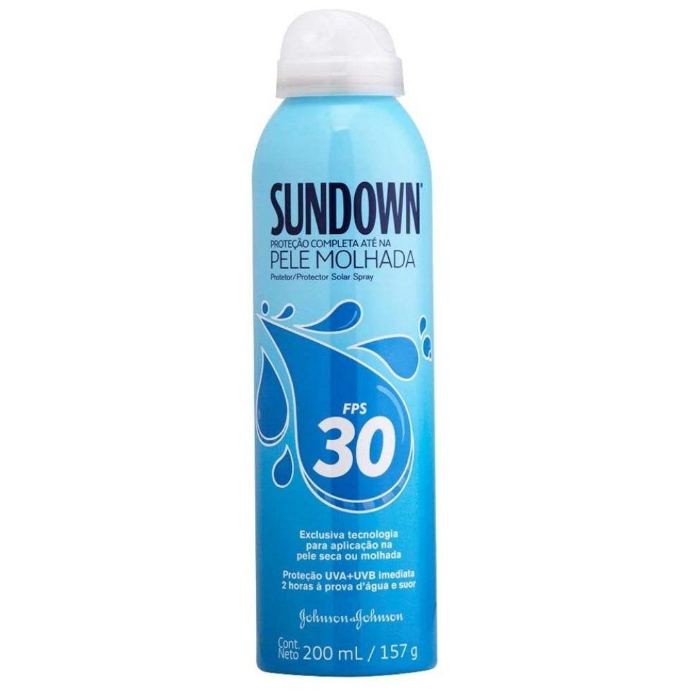 Protetor Solar Spray Pele Molhada Sundown FPS 30