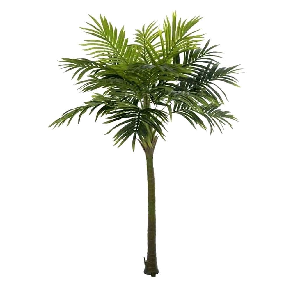 Planta Artificial Árvore Palmeira Real Toque Verde 2,1m
