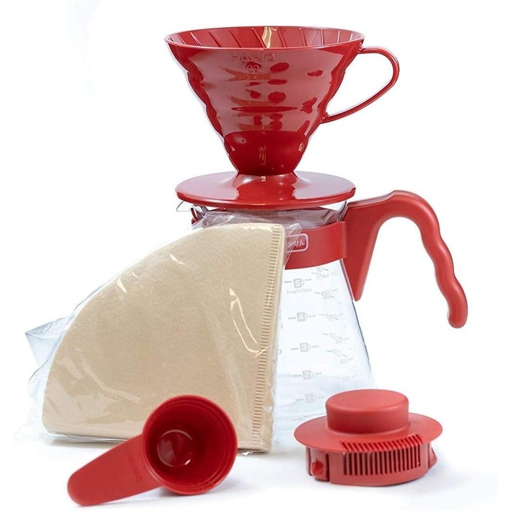 Conjunto para Café Kit Hario V60 Vermelho