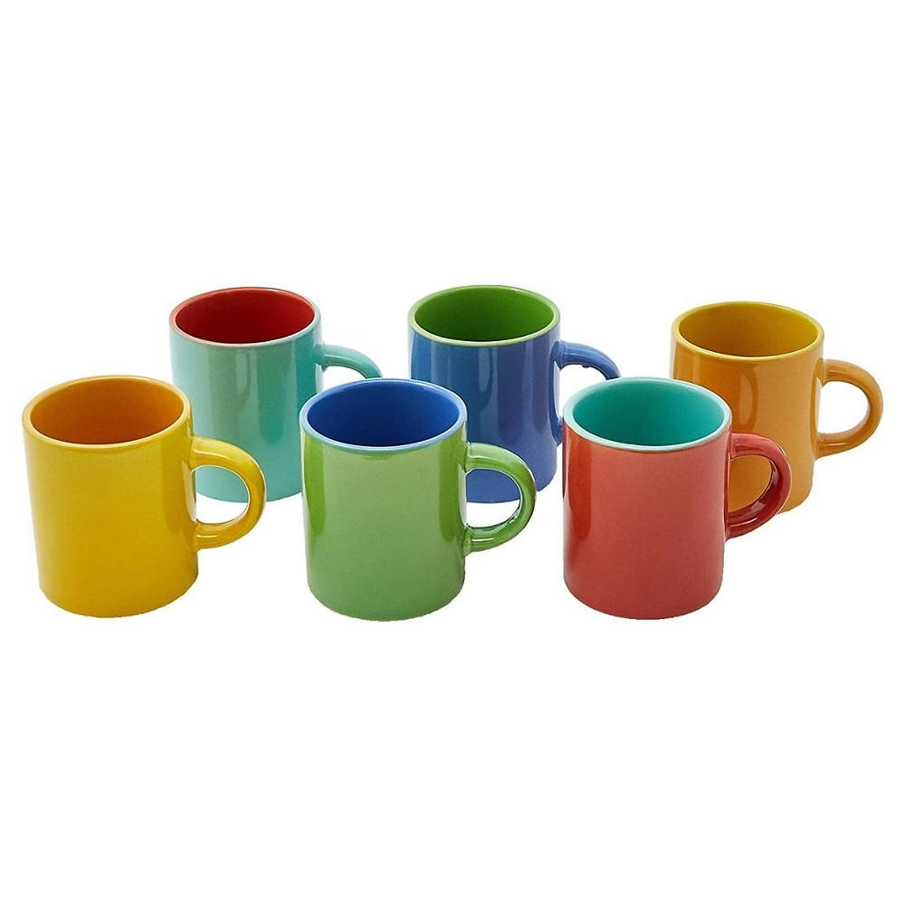 6 minis canecas para café de presnte até R$ 50