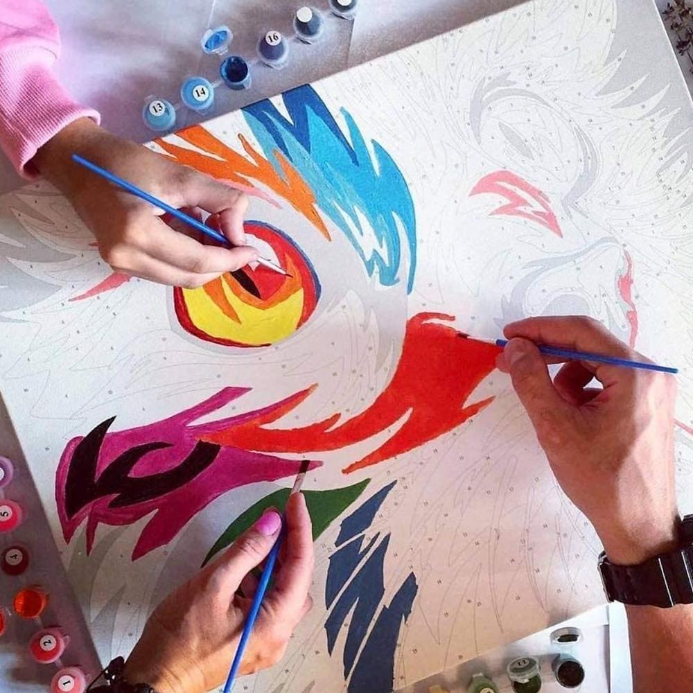 Kit de pintura por números de presente para Dia das Mães