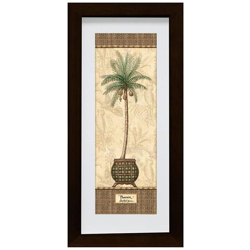 Quadro tropical de coqueiro