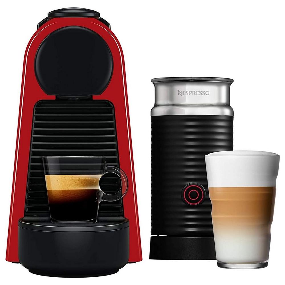 Nespresso Combo Essenza Mini Vermelha, Cafeteira com Aeroccino, 110V