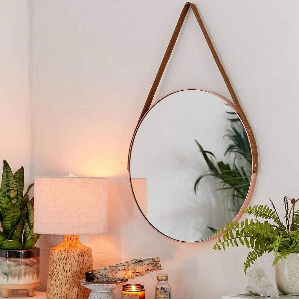 Espelho de parede para decoração natural