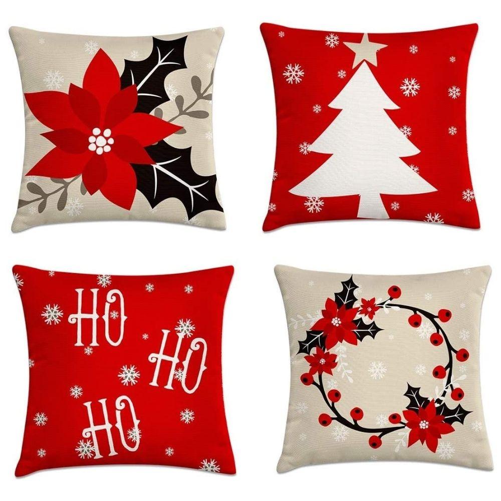 kit 4 capas de almofadas natal