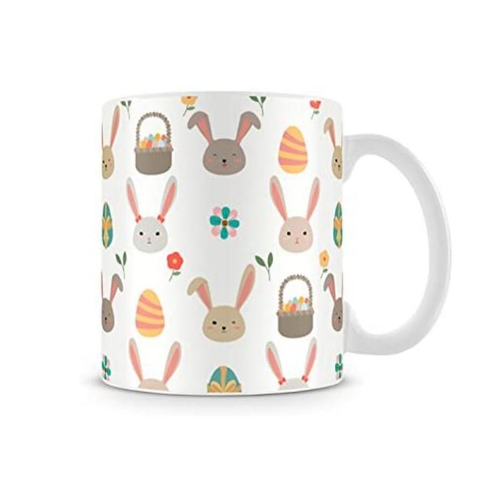 caneca de Páscoa de coelhos