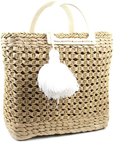 bolsa de palha para praia Empório Naka