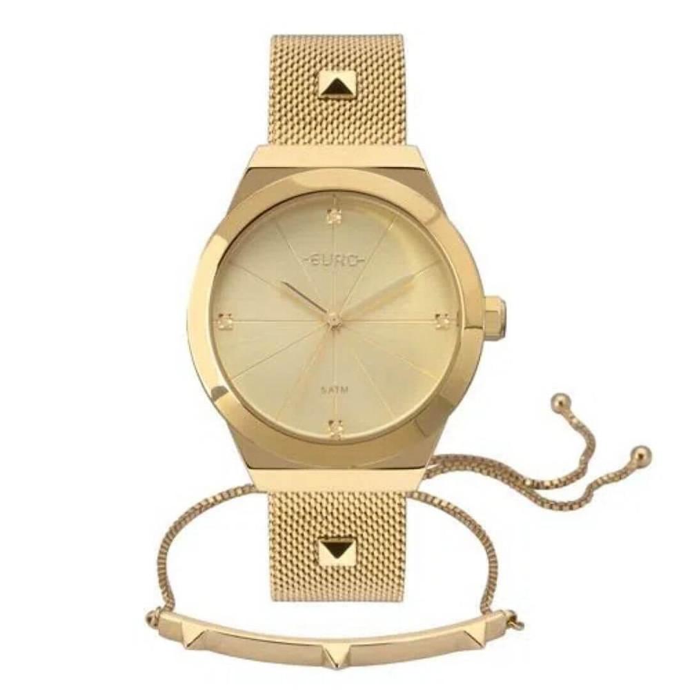 Relógio Euro Unique Feminino Dourado Prime Day 2021