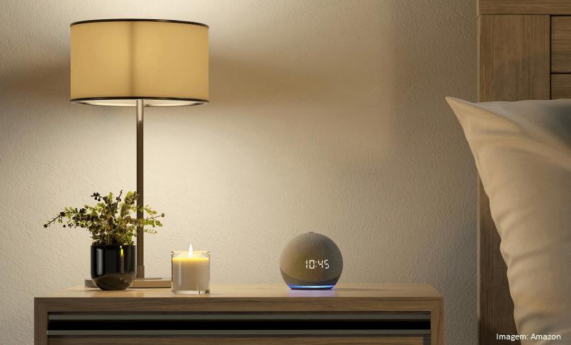 Novo Echo Dot (4ª geração): Smart Speaker com Relógio e Alexa