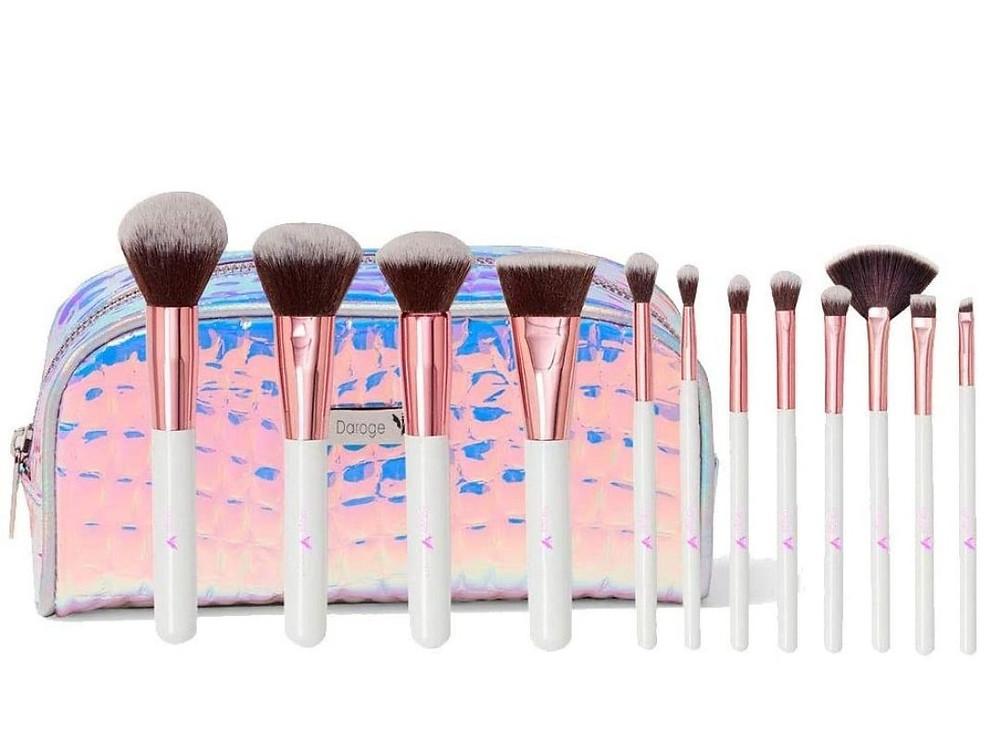 Kit de pincéis de maquiagem com estojo para presente